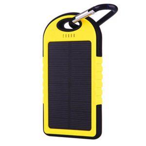 CÂBLE TV - VIDÉO - SON Batterie externe solaire 5000 MAH - étanche - 2 po