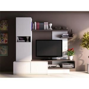 meuble tv bois achat vente pas cher cdiscount. Black Bedroom Furniture Sets. Home Design Ideas