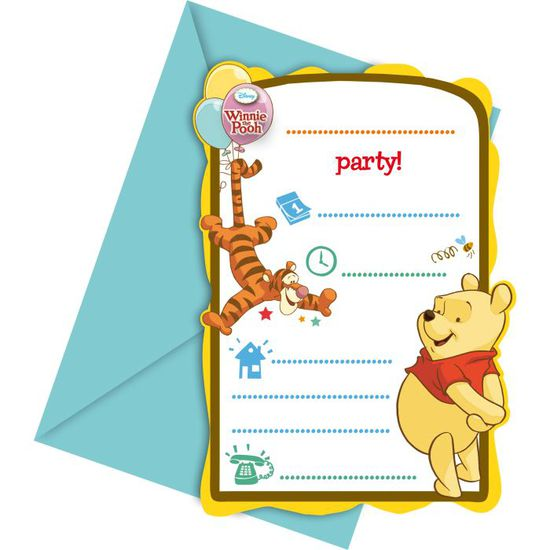 invitations anniversaire winnie l ourson x6 achat vente faire