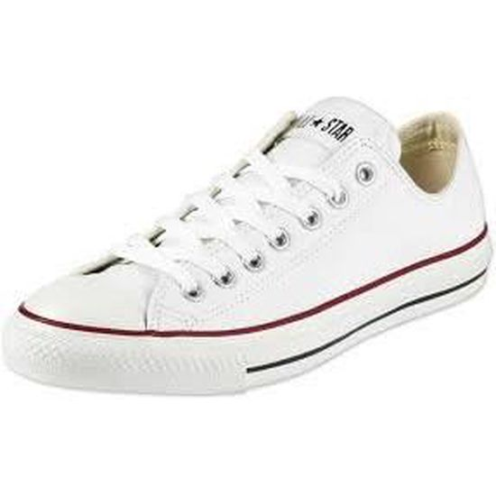 Basket Converse All star Blanche Basse en toile Blanc ...