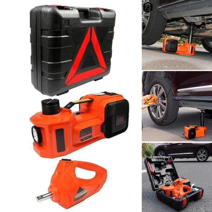 5T Cric électrique Portable 12V DC 150W Kit de changement de roue de pneu de réparation pour voiture