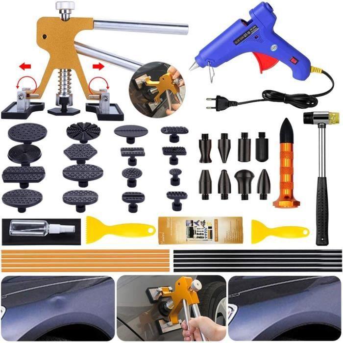 Manelord Kit de Réparation de Bosses, Kit De Réparation De Carrosserie, Kit D'outils de Réparation Paintless Dent pour Voiture, A24