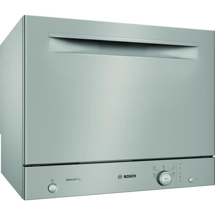BOSH SKS51E38EU Lave-vaisselle compact pose libre- 6 couverts- 49 dB - A+ - 55cm - Inox - Moteur EcoSilence Drive