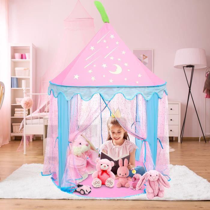 Tente de jeu pour enfants Château de Princesse Tente de jeu Maison de Jouet Château de Princesse de fées