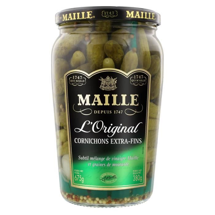 MAILLE Cornichons Extra-Fins Bocal - 380 g