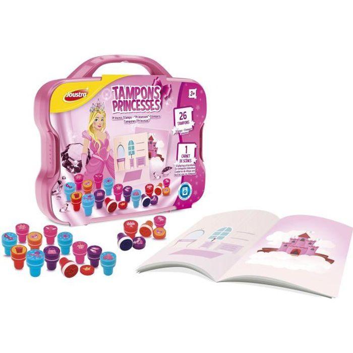 JOUSTRA Mallette Tampons Princesses 26 Tampons pré-encrés !
