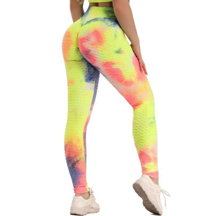 STARBILD Femmes Leggings de Sport Anti-Cellulite Pantalon de Compression Push Up Taille Haute Fesse Remontée Multicolor Yoya Fitness