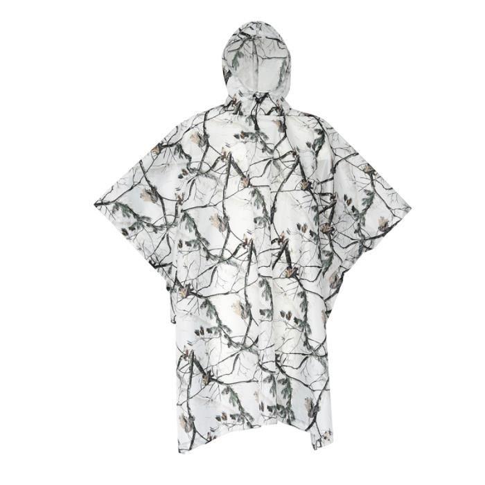 1 pc imperméable à l'eau Poncho de pluie multifonctionnel manteau de vêtements de chasse à capuche Camouflage pour BLOUSON DE SKI
