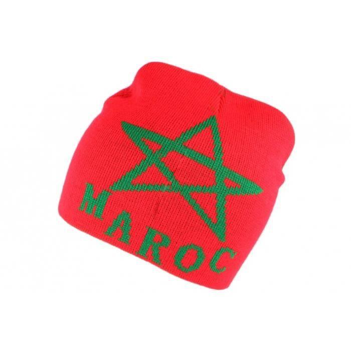 Bonnet Maroc Rouge et Vert - Rouge - Taille unique