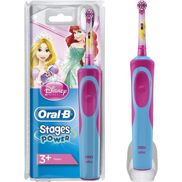 Oral-B Stages Brosse à dents électrique pour enfants avec Princesses Disney