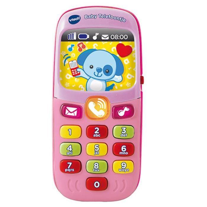 jeu apprentissage bébé VTech Baby Pink Phone Call