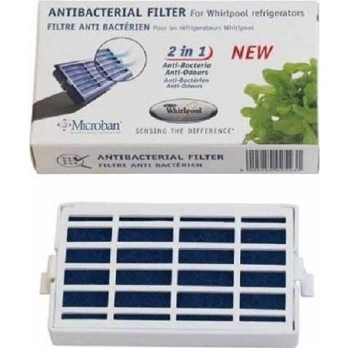 Filtre anti bacterien refrigerateur whirlpool 481248048172