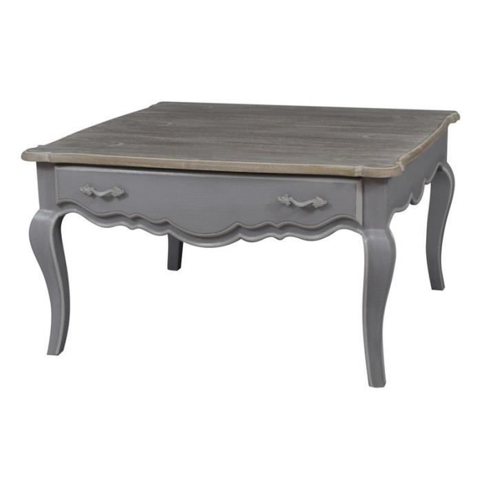 Table basse carr e grise achat vente table basse table - Table basse carree grise ...