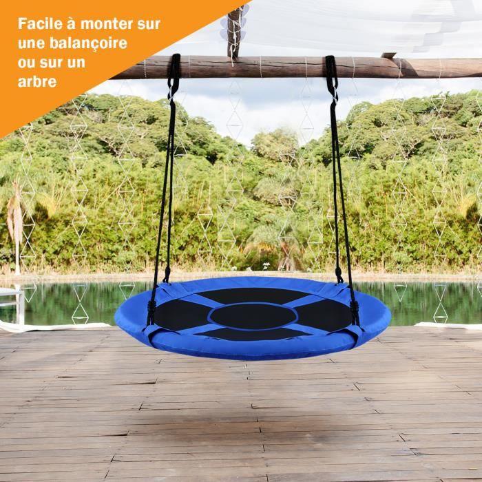 Maxx Balan/çoire nid doiseau Rond Bleu fonc/é 90 x 90 x 150 cm