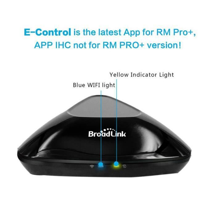Broadlink Updated RM Pro+ Universal Learning Controller Wifi Intelligent  Smart Home Automatisation IR / RF Télécommandes Noir