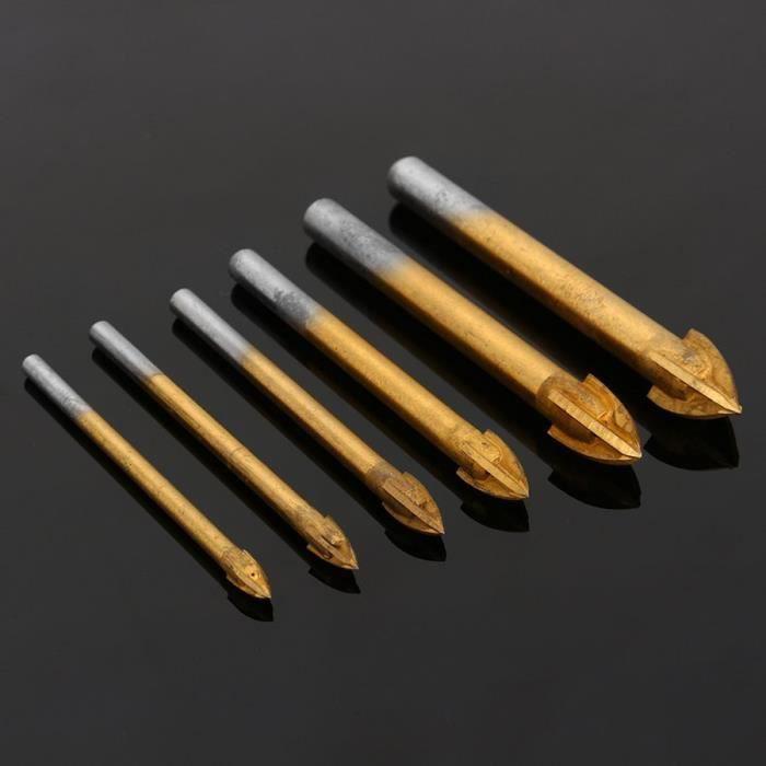 FORET - MECHE 6PCS Point de carbure d'alliage avec 4 morceaux d'