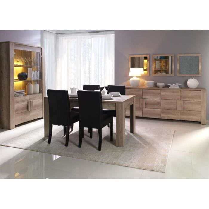 salle a manger deco chene 3 pieces achat vente salle. Black Bedroom Furniture Sets. Home Design Ideas