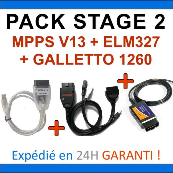 pack reprogrammation calculateur interfaces elm327 usb mpps v13 galletto 1260 achat vente. Black Bedroom Furniture Sets. Home Design Ideas