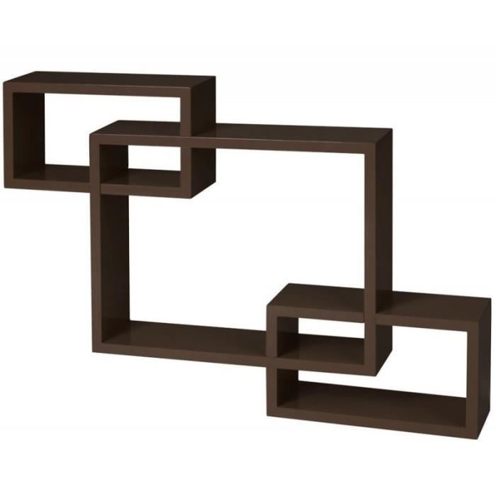 tag re murale x3 cube marron 2701005 achat vente. Black Bedroom Furniture Sets. Home Design Ideas