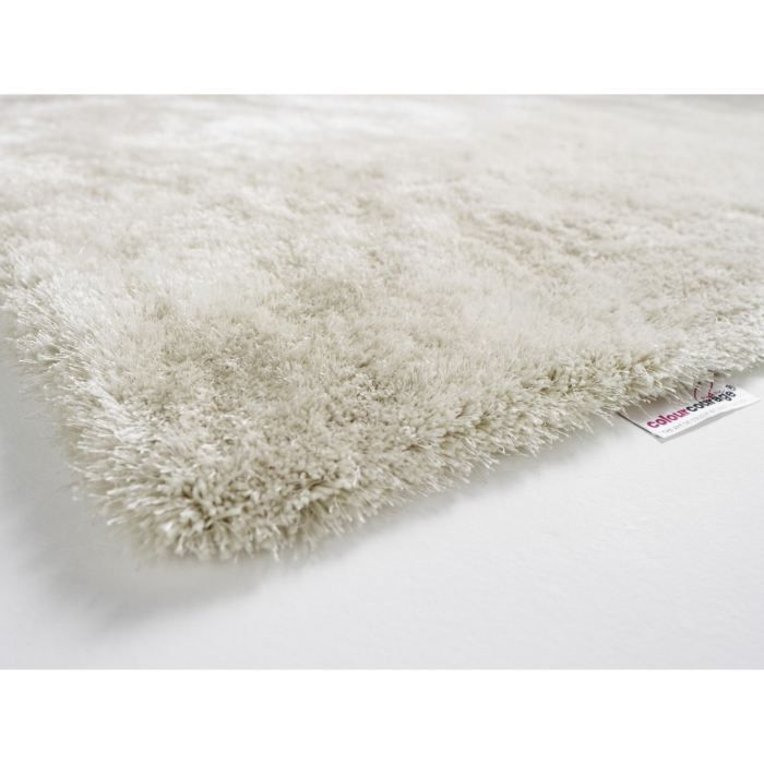 tapis shaggy colour courage pebble blanc achat vente tapis cdiscount. Black Bedroom Furniture Sets. Home Design Ideas