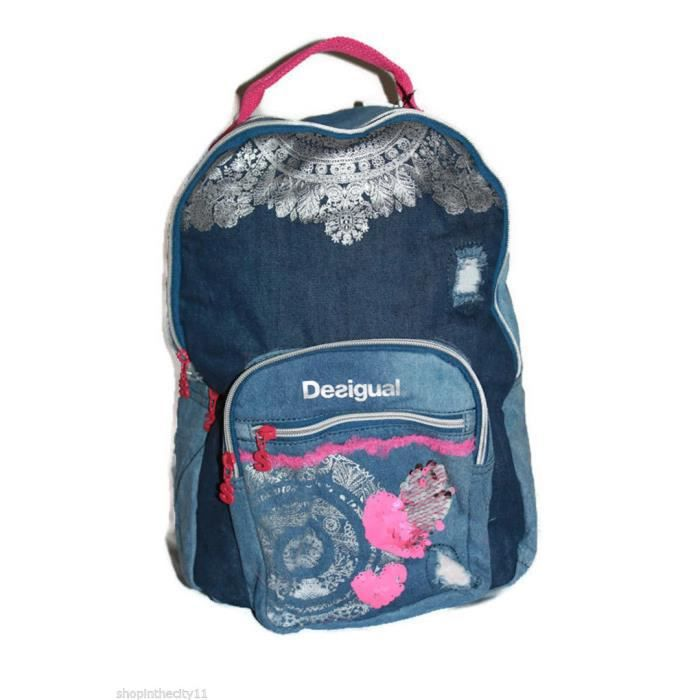 cartable sac a dos desigual denim bleu achat vente cartable 2009842611526 les soldes sur. Black Bedroom Furniture Sets. Home Design Ideas
