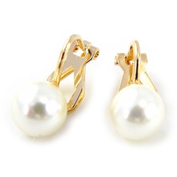 boucles d'oreille clip perle