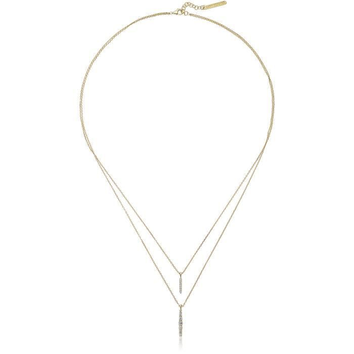 Lucky Brand Gold Double Layer Necklace HI3BU