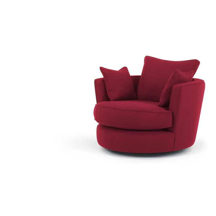 leon causeuse pivotante rouge airelle achat vente fauteuil bleu cdiscount. Black Bedroom Furniture Sets. Home Design Ideas