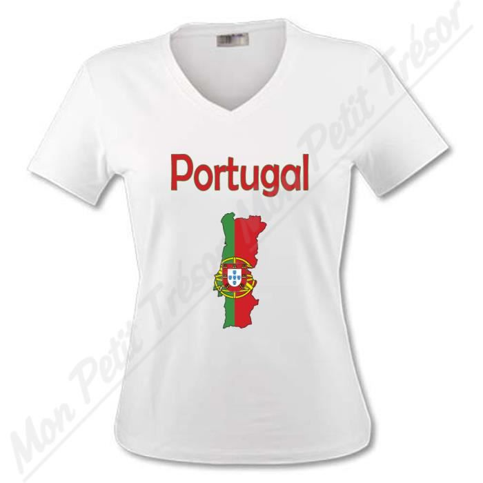 t shirt femme carte portugal d achat vente t shirt cdiscount. Black Bedroom Furniture Sets. Home Design Ideas