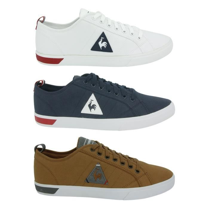 le coq sportif ares bbr chaussures mode sneakers h blanc blanc