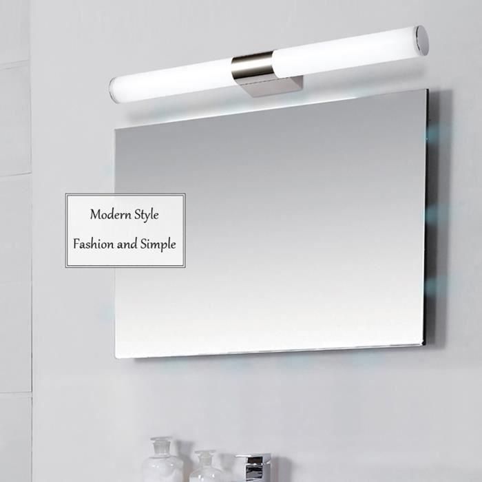 Miroir à LED moderne 16W lampe étanche salle de bains murale~PL