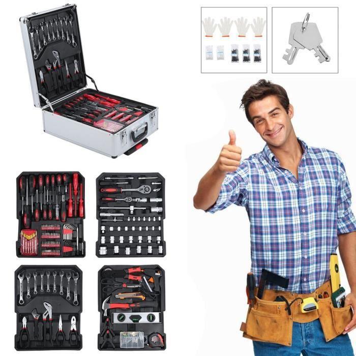 TROLLEY MATERIEL Malette multi outils trolley, 799Pcs,Boite à Outil