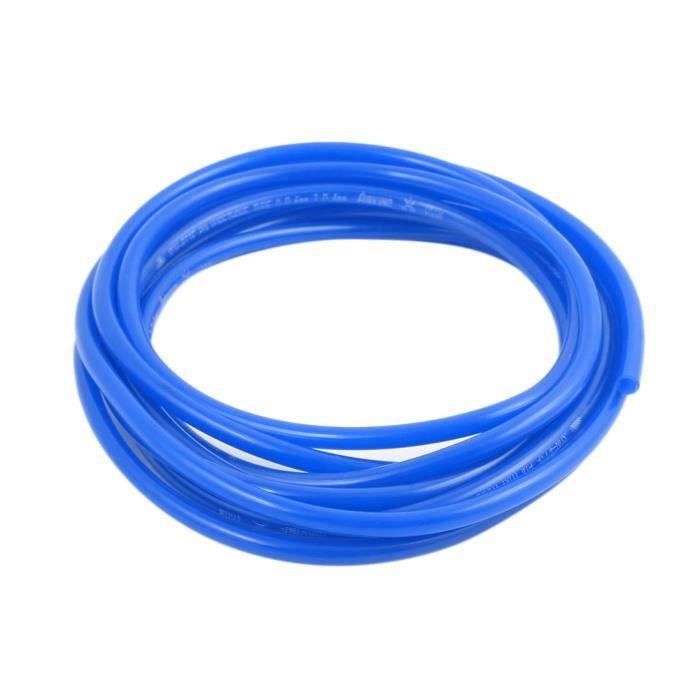 sourcing map 8mm x 5mm compresseur air pneumatique tuyau tube flexible PU tube bleu 8,4 m