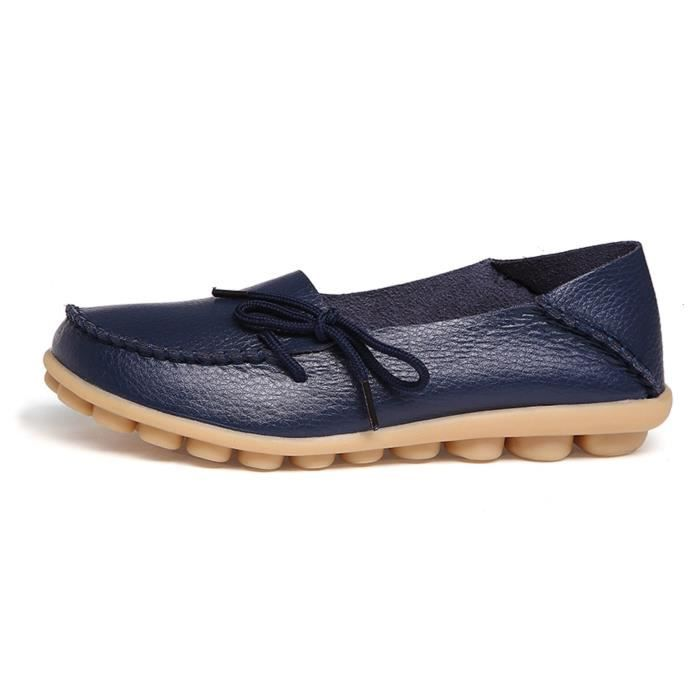 Comfort Walking Office Flat Loafer FVAGE Taille-37