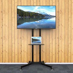 Laizzere Support Mural Tv Sur Pied Chariot Reglable