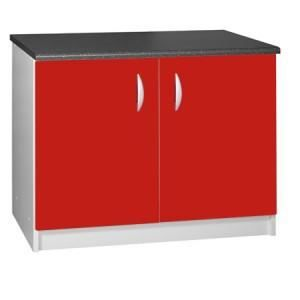 ELEMENTS BAS Meuble cuisine bas 120 cm 2 portes OXANE rouge
