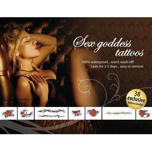 TATOO - BIJOU DE CORPS Set 38 Tatouages Temporaires Sex Goddess Tatoo