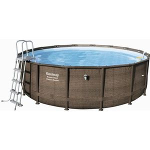 PISCINE BESTWAY Kit piscine ronde Power Steel Frame Pool T