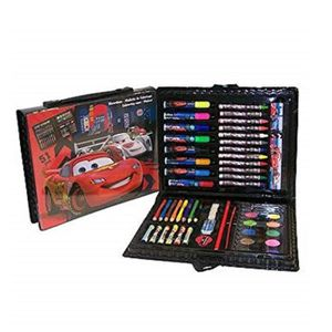 JEU DE COLORIAGE - DESSIN - POCHOIR MALETTE DE DESSIN 51 PIECES DISNEY CARS