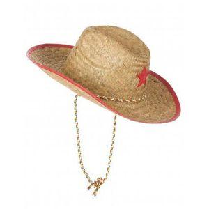 CHAPEAU - PERRUQUE Chapeau cowboy de l'ouest en paille enfant