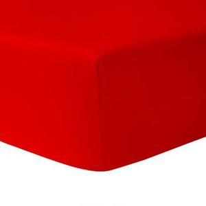 DRAP HOUSSE Drap Housse 160 x 200 - ROUGE 100% coton 57 fils /