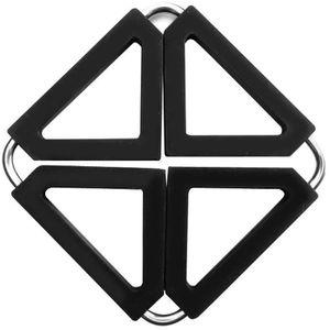 DESSOUS DE PLAT  Dessous de plat carré repliable - inox, silicone