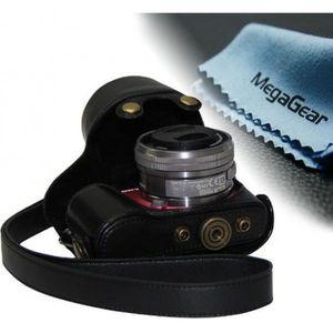 COQUE - HOUSSE - ÉTUI Etui de protection en cuir noir  pour appareils ph