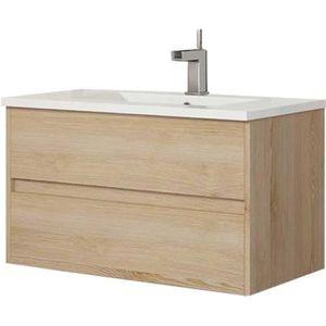 MEUBLE VASQUE - PLAN Meuble sous vasque de salle de bain suspendu LERMA
