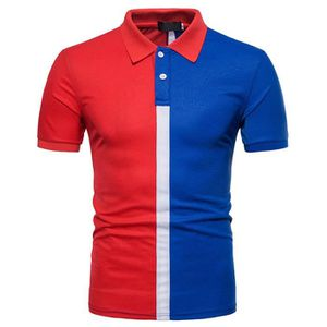 T-SHIRT Polo Homme Contraste Couleur Golf T-Shirt Manches