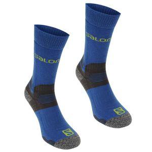 2 paire salomon activité 40/% laine mérinos bleu randonnée marche chaussettes small /& medium