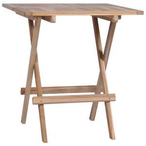 Table jardin bois 60 cm