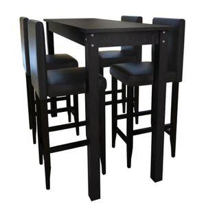TABLE À MANGER COMPLÈTE Set de 1 table de bar et 4 tabourets Ensembles de