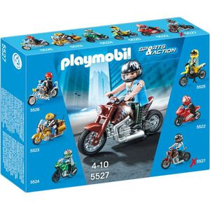 UNIVERS MINIATURE PLAYMOBIL 5527  Moto Custom Marron