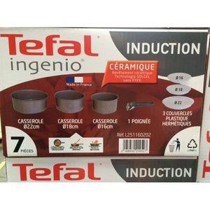 CASSEROLE Tefal L2511602 Ingenio Casserole sans poignée Céra
